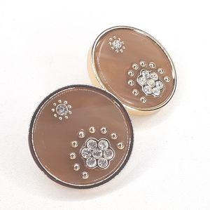 ♠️ Kate Spade Earrings Enamel Disc w/CZ Flowers